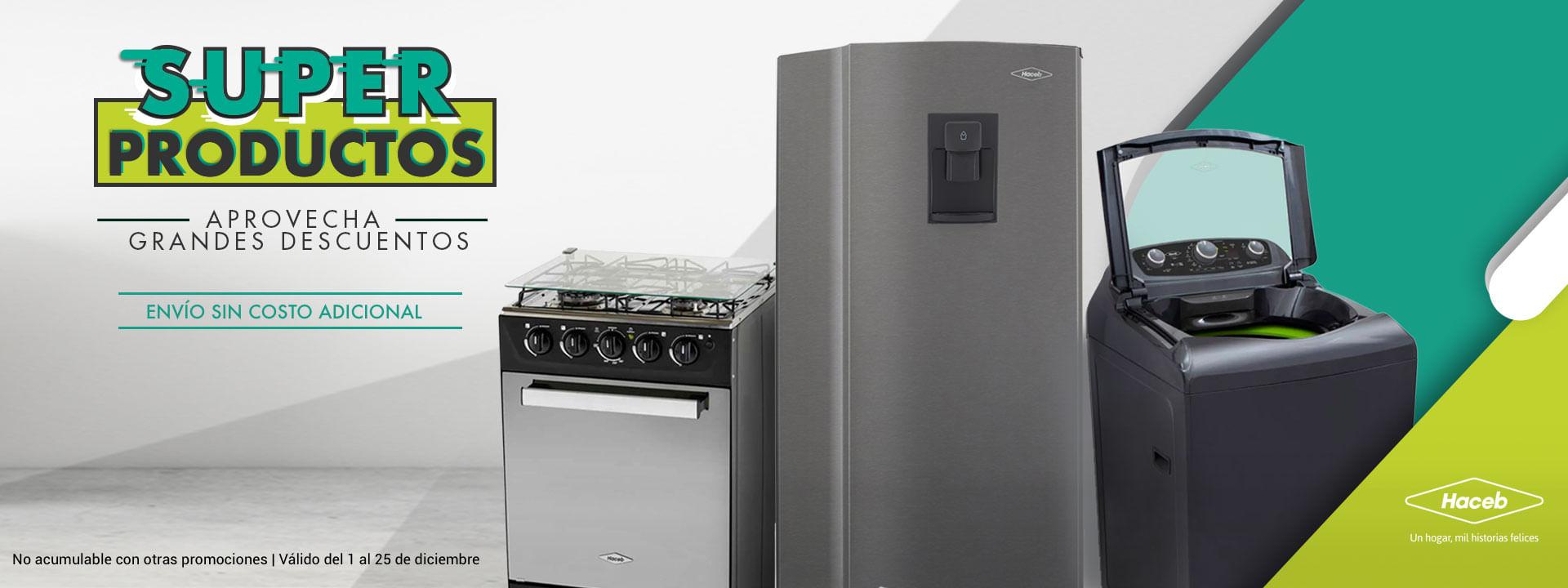 ofertas en neveras, estufas y lavadoras
